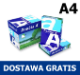 Papier ksero A4 Double A Premium 80g - 10,51 zł netto/ryza (PALETA). DOSTAWA GRATIS!